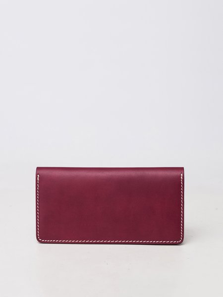 Wine Red Mini Cowhide Leather Wallet