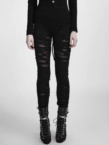Black Velvet Street Skinny Leg Pant