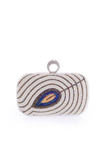 Golden Polyester Mini Clutch