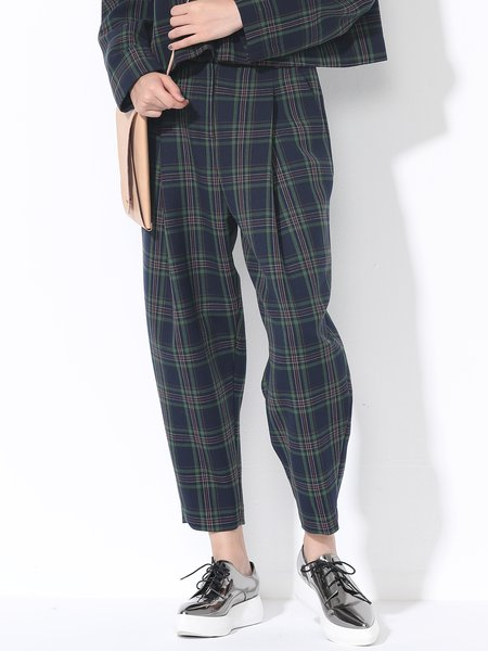 https://www.stylewe.com/product/green-casual-woven-checkered-plaid-pockets-track-pant-67929.html