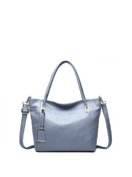 Cowhide Leather Casual Small Zipper Shoulder Bag