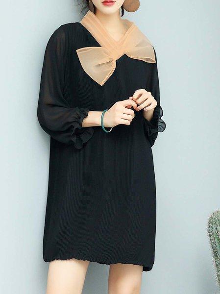 3/4 Sleeve Shift Casual Mini Dress