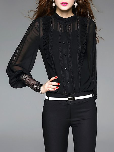 Long Sleeve Ruffled Elegant Bodysuit