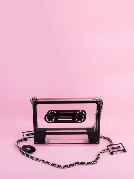 Black Statement Magnetic Acrylic Crossbody