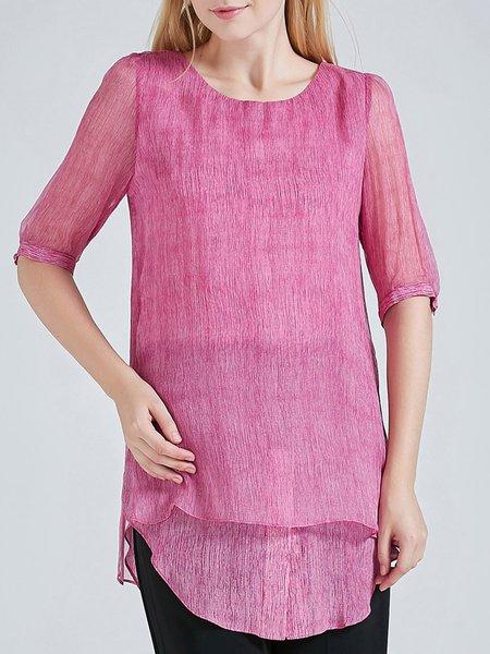 Deep Pink Vintage Silk Tunic