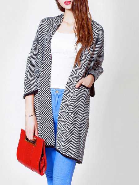 Long Sleeve Knitted H-line Casual Coat
