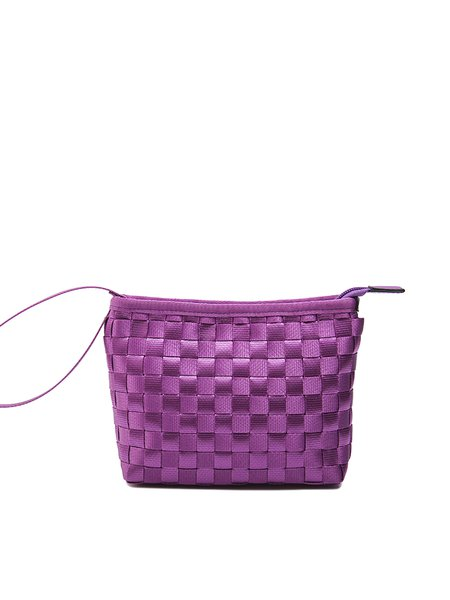 Zipper Mini Casual Woven Nylon Clutch