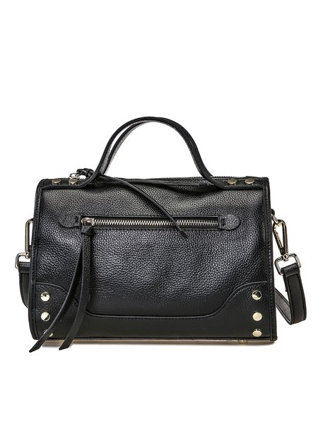 Zipper Casual Small Cowhide leather Satchel