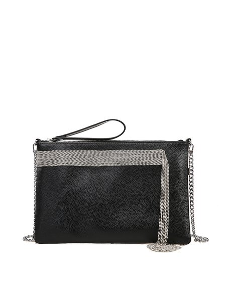 Zipper Casual Cowhide Leather Medium Crossbody
