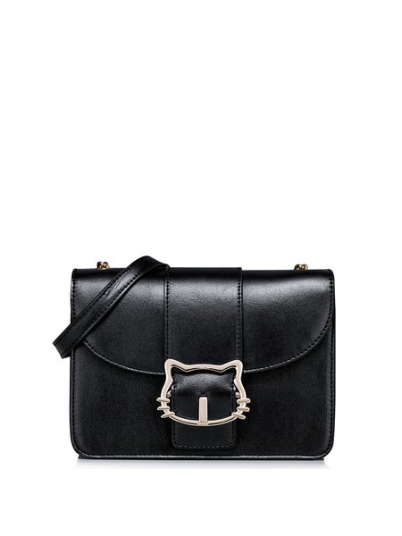 Black Sweet Small PU Satchel
