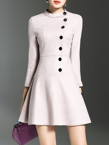 3/4 Sleeve Flounce Elegant Mini Dress