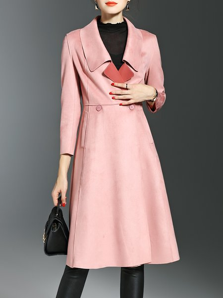 Lapel Elegant 3/4 Sleeve Coat