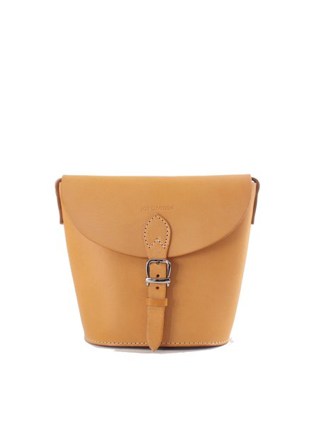 Brown Retro Cowhide Leather Snap Crossbody