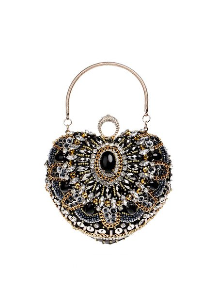 Clasp Lock Mini Evening Beaded Clutch
