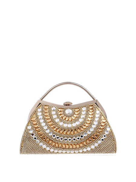 Evening Beaded Small Clasp Lock Clutch