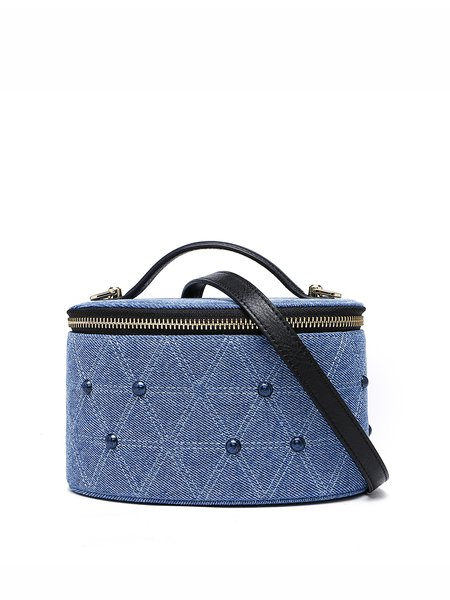 Mini Statement Denim Canvas Zipper Crossbody