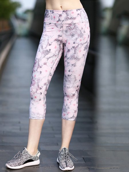 Stretchy Quick Dry Polyester Bottom Printed Pants