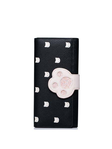 Black Mini Sweet Printed Wallet