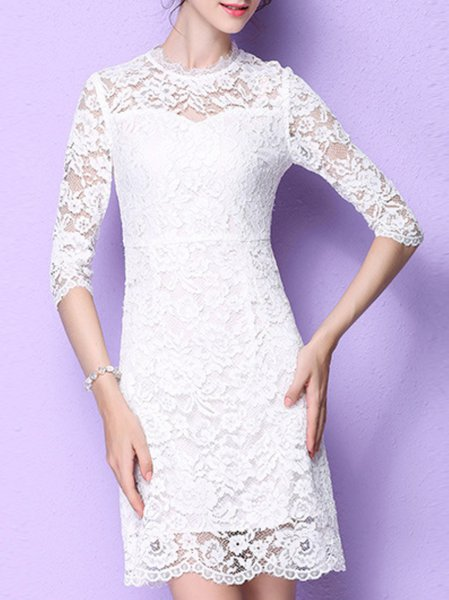 Sheath Half Sleeve Mini Dress