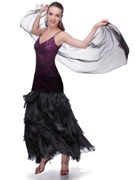 Burgundy Elegant Spaghetti Beaded Mermaid Party Dress