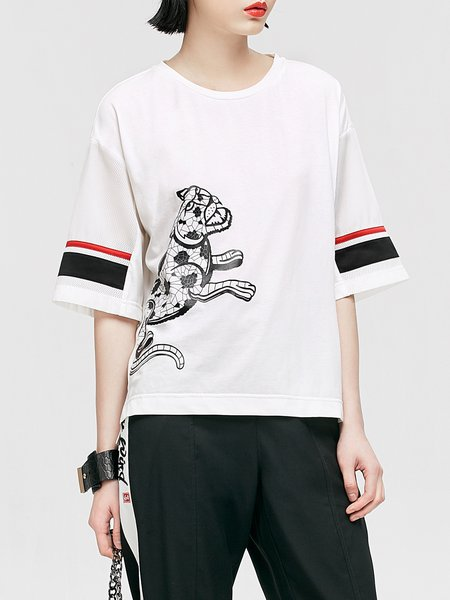 Printed Cotton-blend T-Shirt
