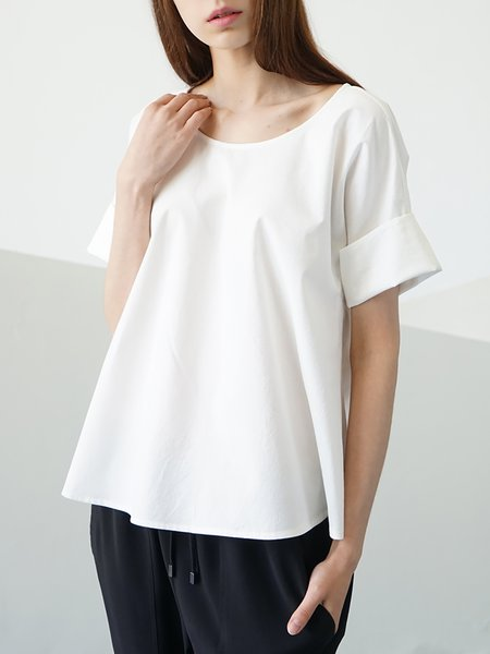 White Plain Casual T-Shirt