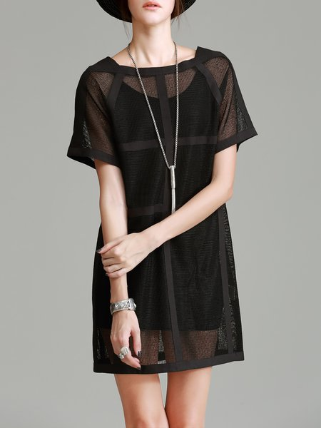 Short Sleeve Two Piece Casual Mini Dress