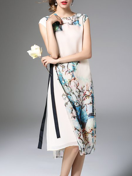 Sleeveless Reversible Casual Midi Dress