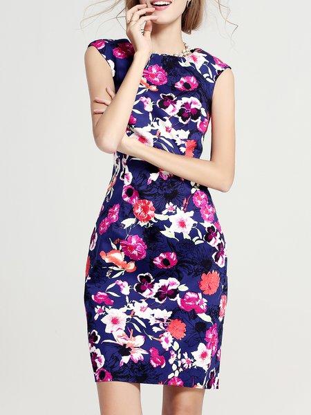 Multicolor Floral Work Mini Dress