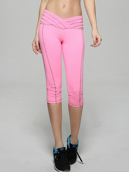 Pink Leggings Natural Bottom (Sportswear for Fitness)