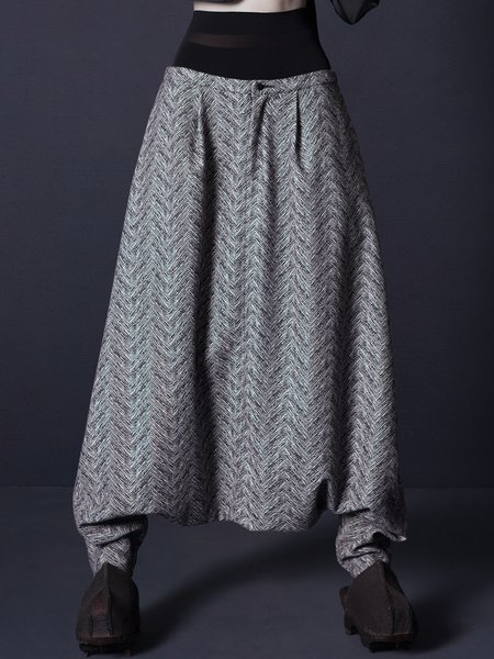 Statement Wool Blend Pockets Haren Pants