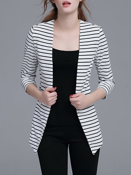 White Stripes Work Blazer