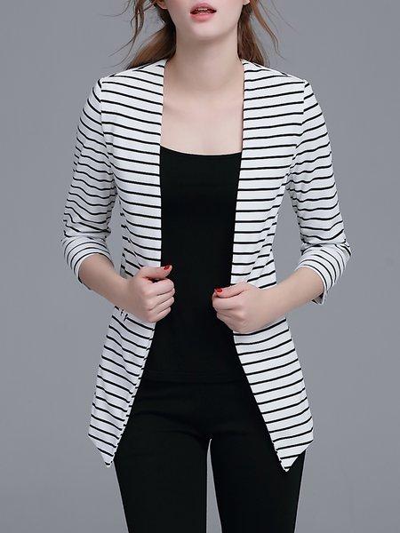 White Stripes Work Blazer
