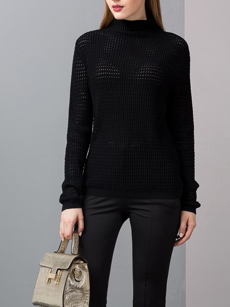 Long Sleeve Knitted Casual Sweater