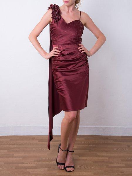 Solid Sweetheart Satin Elegant Sleeveless Midi Dress