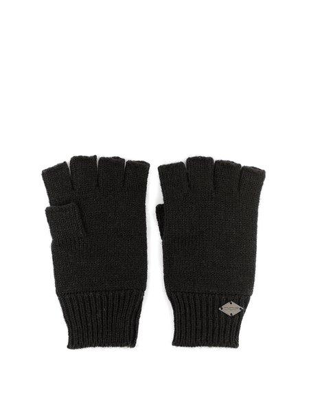 Plain Gloves Knitting Pattern : Black Plain Knitted Gloves - StyleWe.com