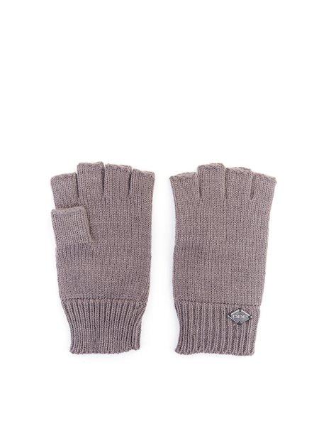 Half-fingered Plain Knitted Gloves