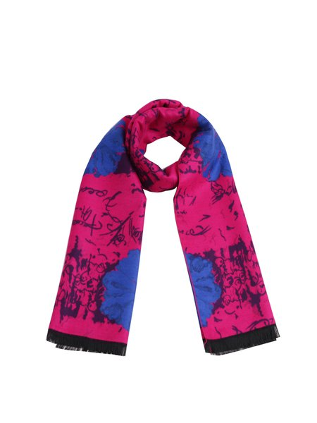 Fuchsia Vintage Abstract Scarf