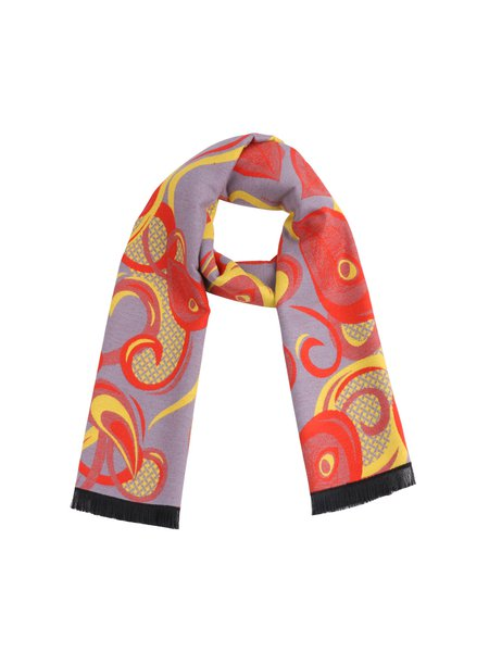 Yellow Abstract Cute Scarf