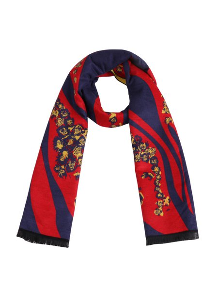 Multicolor Abstract Polyester Cute Scarf