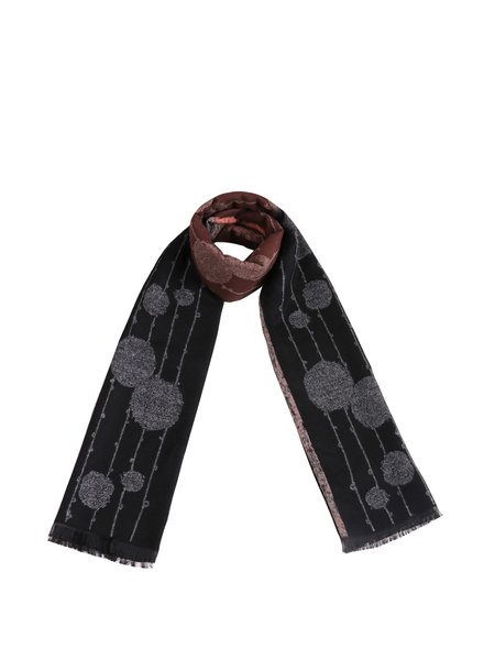 Black Graphic Casual Scarf