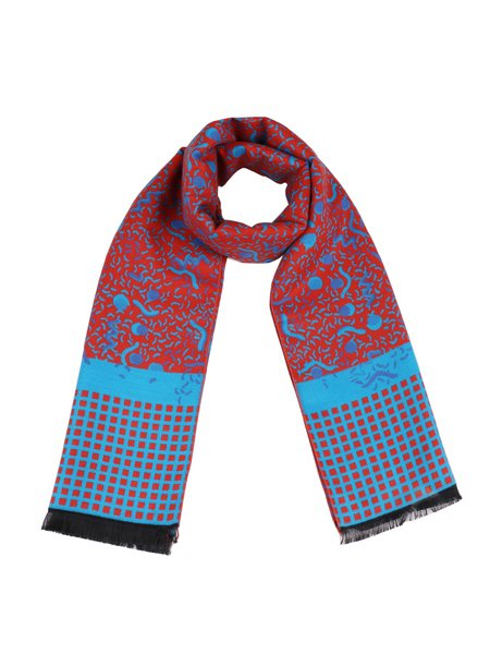 Blue Tribal Casual Scarf