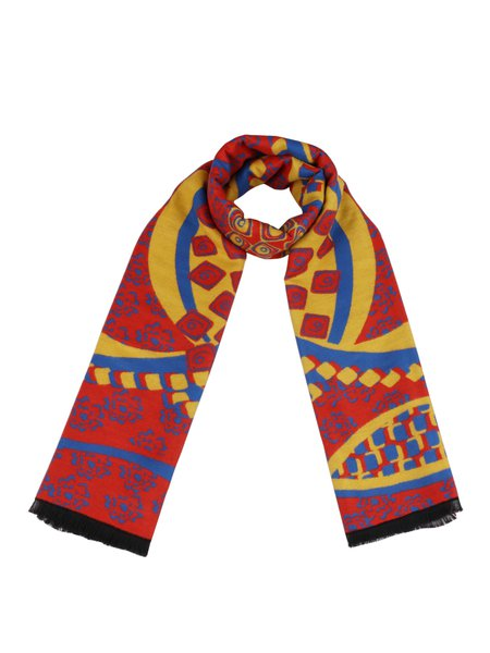 Orange Vintage Tribal Scarf