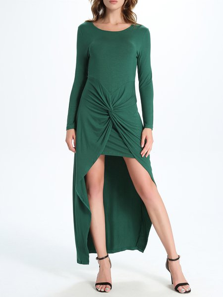 https://www.stylewe.com/product/green-gathered-solid-high-low-long-sleeve-maxi-dress-92105.html