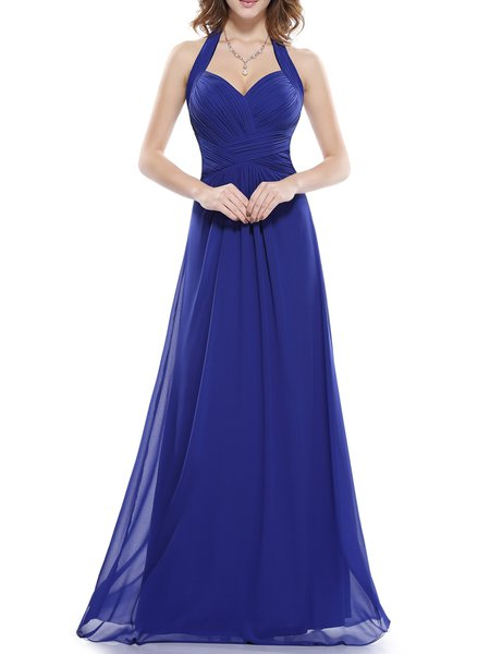 Sweetheart Halter Swing Elegant Evening Dress
