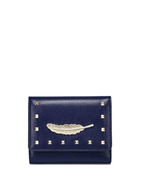 Mini Rivet PU Sweet Snap Wallet