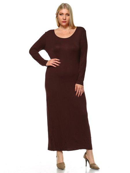 Simple long sleeve maxi dress
