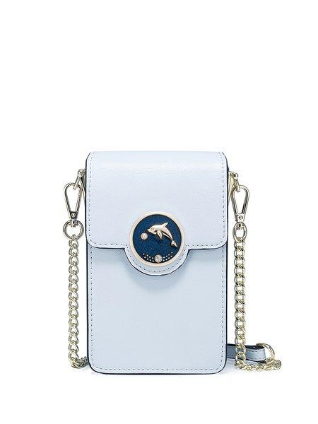 Sky Blue PU Sweet Magnetic Crossbody Bag