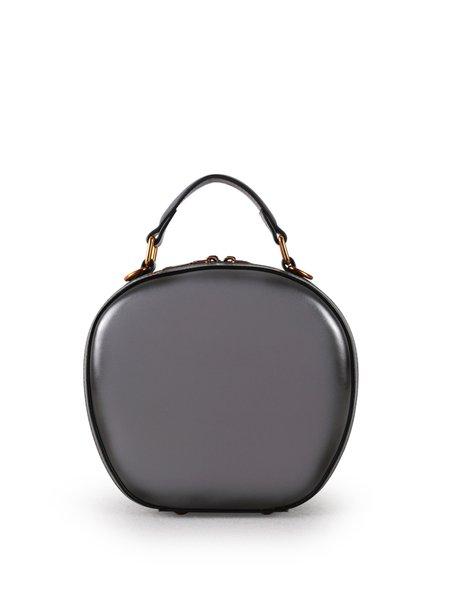 Solid Simple Cowhide Leather Zipper Crossbody Bag