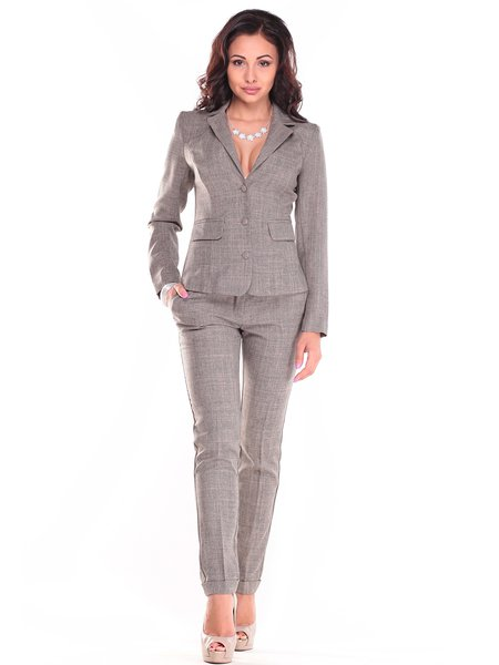 Solid Sheath Long Sleeve Elegant Two Piece Work Suits